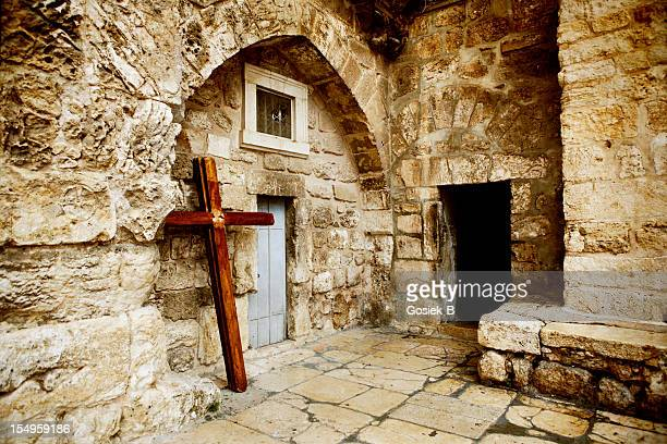 church of the holy sepulchre - jesus entry into jerusalem stock pictures, royalty-free photos & images
