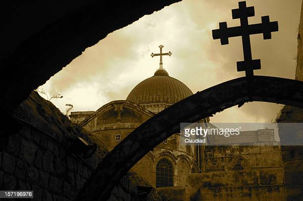 church of the holy sepulchre - orthodox church stock pictures, royalty-free photos & images