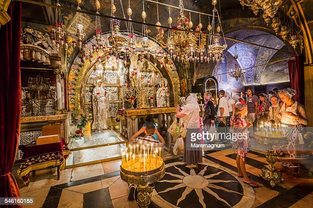 church of the holy sepulchre - 聖墳墓教会 ストックフォトと画像