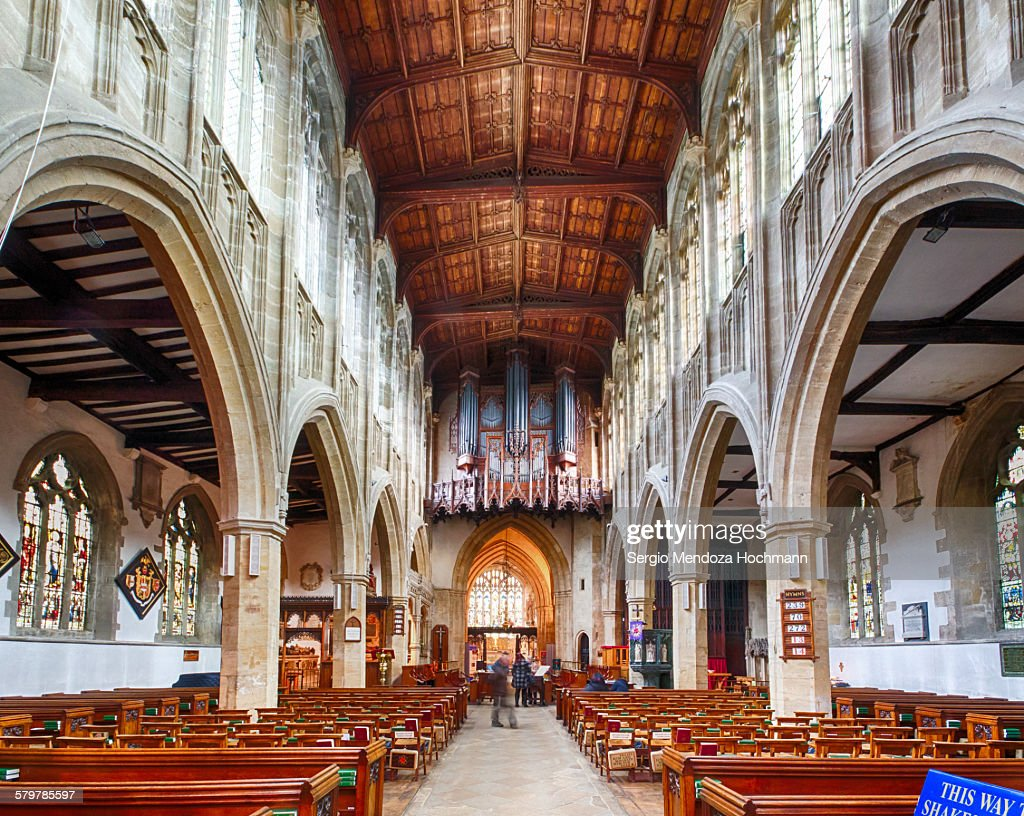 Church of the Holy Trinity in Stratford, inside : Stock Photo
