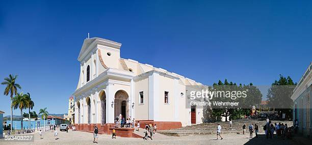 church of the holy trinity, plaza mayor, trinidad - christine wehrmeier stock photos and pictures