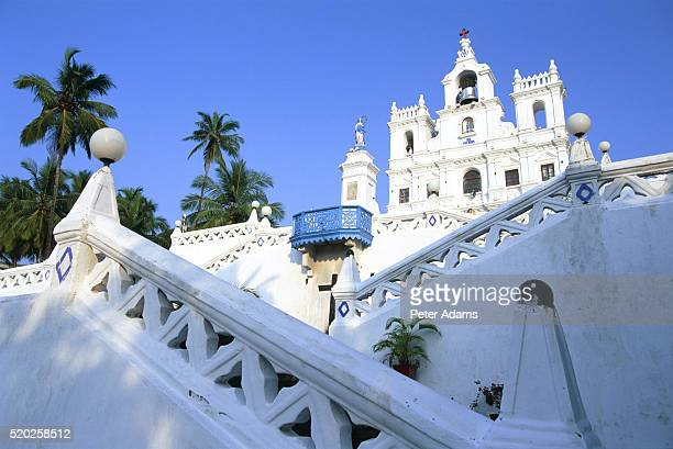 church of the immaculate conception, panaji, goa, india - panjim stock photos and pictures