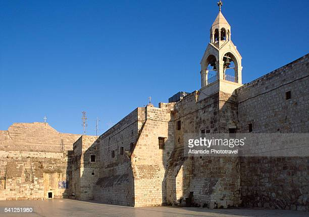 church of the nativity in bethlehem - bethlehem stock pictures, royalty-free photos & images