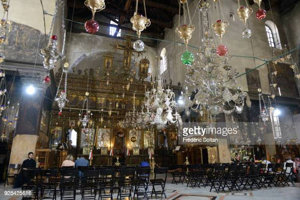 Church of the Nativity in Bethlehem The Church of the Nativity is a basilica located in Bethlehem Palestinian territories on May 18 2014 in Bethlehem...
