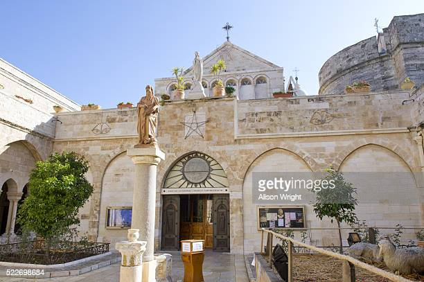 church of the nativity - bethlehem stock pictures, royalty-free photos & images