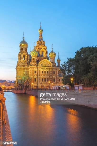 church of the savior on blood at st.petersburg, russia - san pietroburgo foto e immagini stock