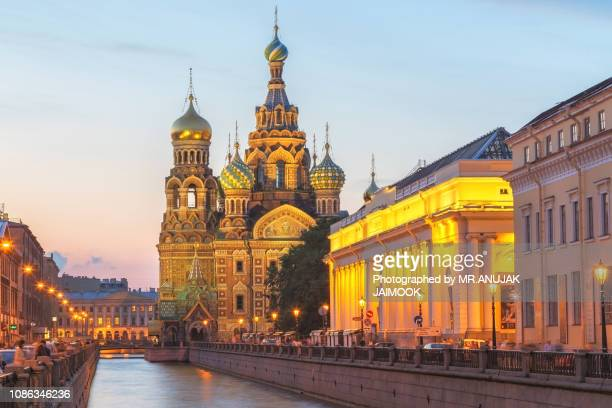 church of the savior on blood at st.petersburg, russia - サンクトペテルブルク ストックフォトと画像