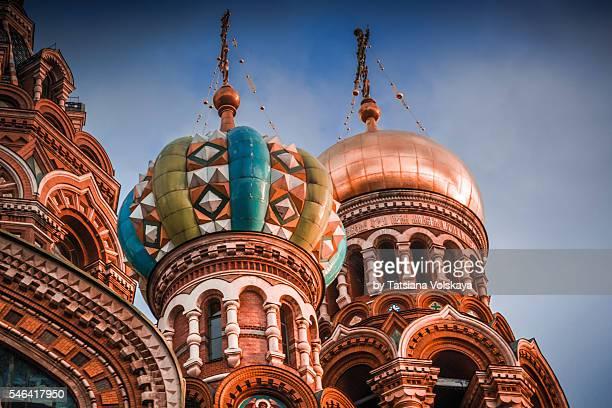 church of the savior on spilled blood, st. petersburg, russia. - san pietroburgo foto e immagini stock