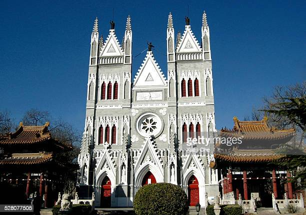 church of the saviour, beijing, china - xuan che stock pictures, royalty-free photos & images