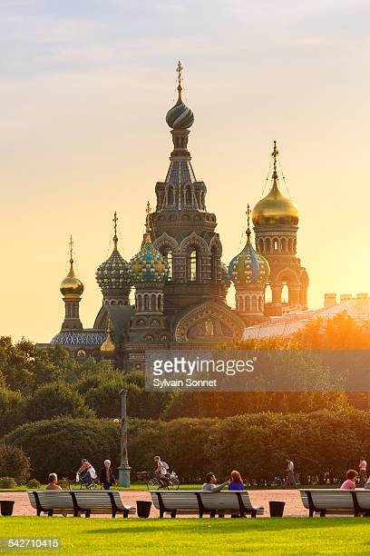 Church of the Saviour on Spilled Blood at sunset