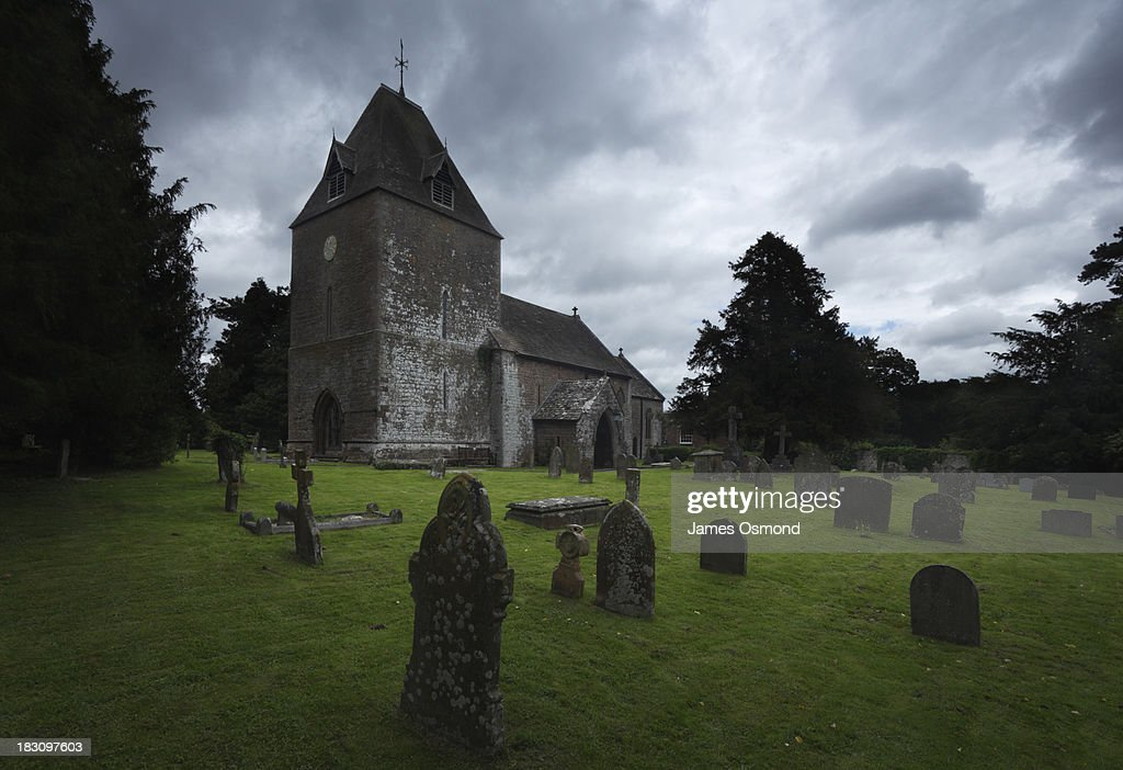 Church on a Gloomy Day : Stock Photo