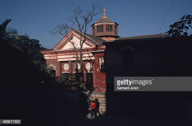 A church on Gulangyu Island The island has a population of about 20000 and is located across from Xiamen in the Taiwan Strait It's famous for its...