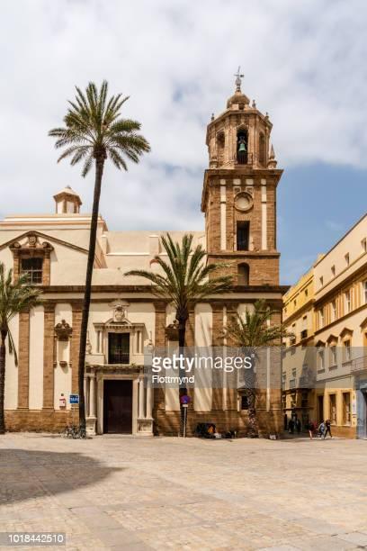 Church on the plaza de la Catedral in Cadiz, Spain