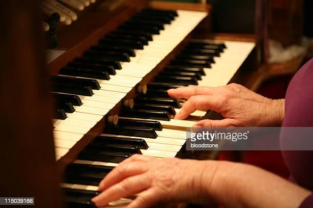 Church organ player