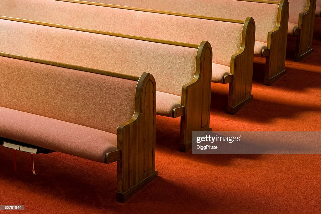 Church Pews : Stock Photo