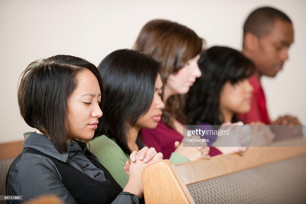 Church Prayer : Stock Photo