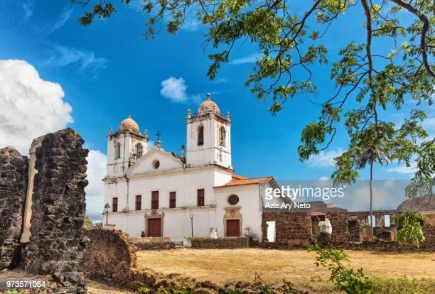 church, ruins of historic buildings, so pedro de alcantara, maranhao, brazil - maranhao state stock pictures, royalty-free photos & images