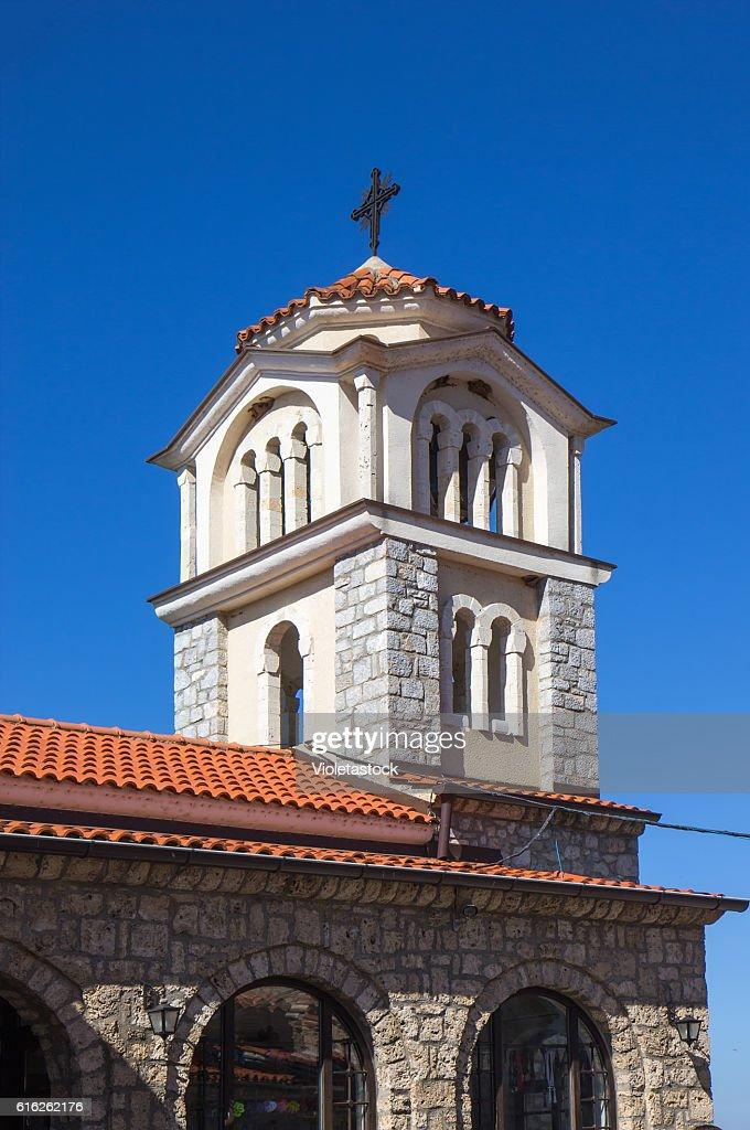 Church Saint Naum, Ohrid lake, FYRM (Macedonia) : Foto de stock