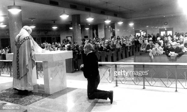 Church services take place at the Shrine of St Anthony on Arch Street in Boston on Christmas Day Dec 25 1972