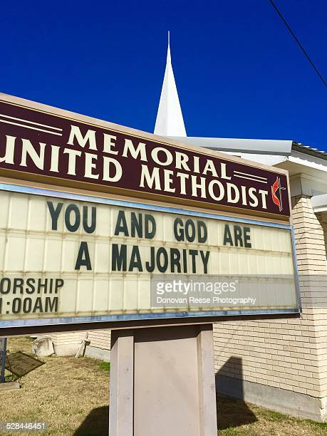 Church sign in Glen Rose Texas