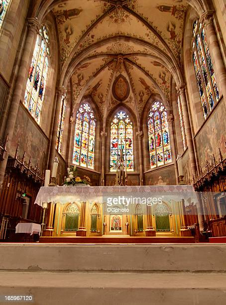 church st peter and paul in obernai, france - ogphoto stock pictures, royalty-free photos & images