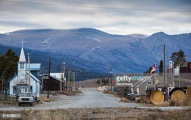 A church stands in Carcross Yukon Canada on Thursday Oct 13 2016 Bennett British Columbia was once a thriving transit point for prospectors in the...