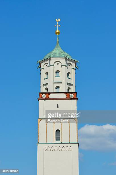 church steeple - augsburg zwaben stockfoto's en -beelden
