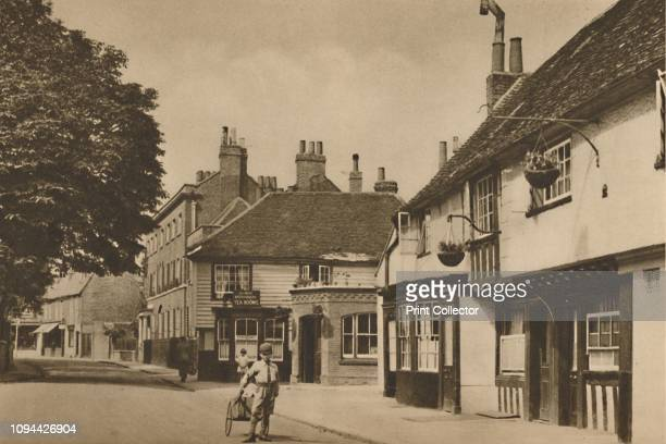 Church Street, Chiswick, With What Used To Be The Burlington Arms', circa 1935. Half-timbered building in Chiswick, west London, once a hostelry and...