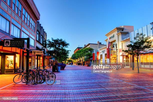 church street marketplace in burlington - burlington vermont stock photos and pictures