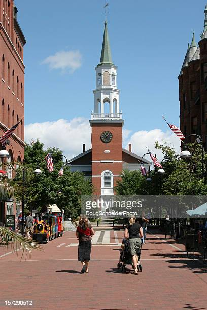 church street marketplace - burlington vermont stock photos and pictures
