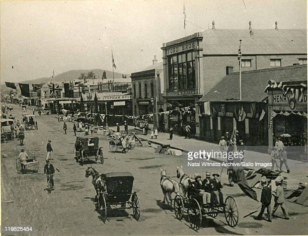 Church Street, Pietermaritzburg with a view towards the station.