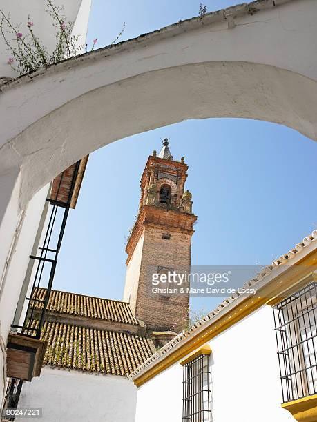 church tower. - carmona fotografías e imágenes de stock