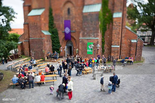 kirche mit kindern / dannenberg - gemeindefest 2011 - fete stock photos and pictures