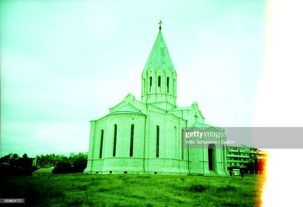 Church With Spired Bell Tower : Foto stock