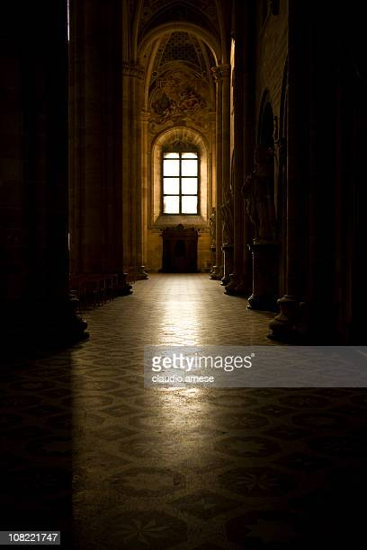 Church with Sunlight Shining Through Window. Color Image