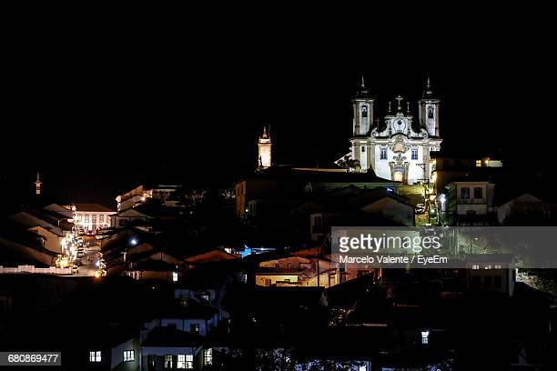 Church With Townscape At Night