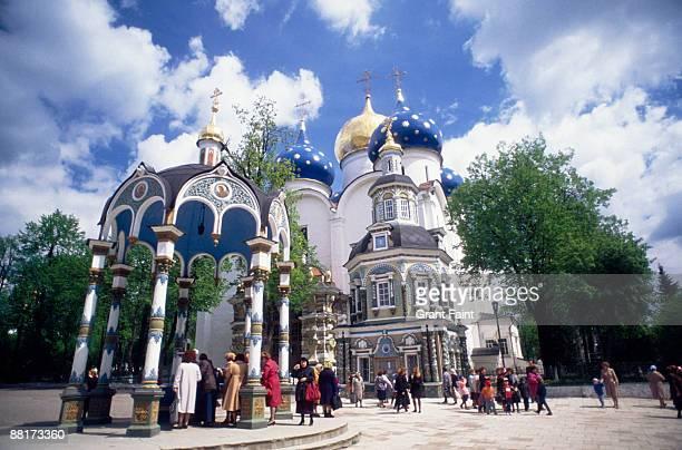 """""""church, zagorsk, moscow, russia."""" - lugar histórico imagens e fotografias de stock"""