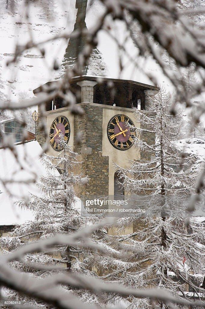 Church, Zermatt, Switzerland, Europe : Stock Photo
