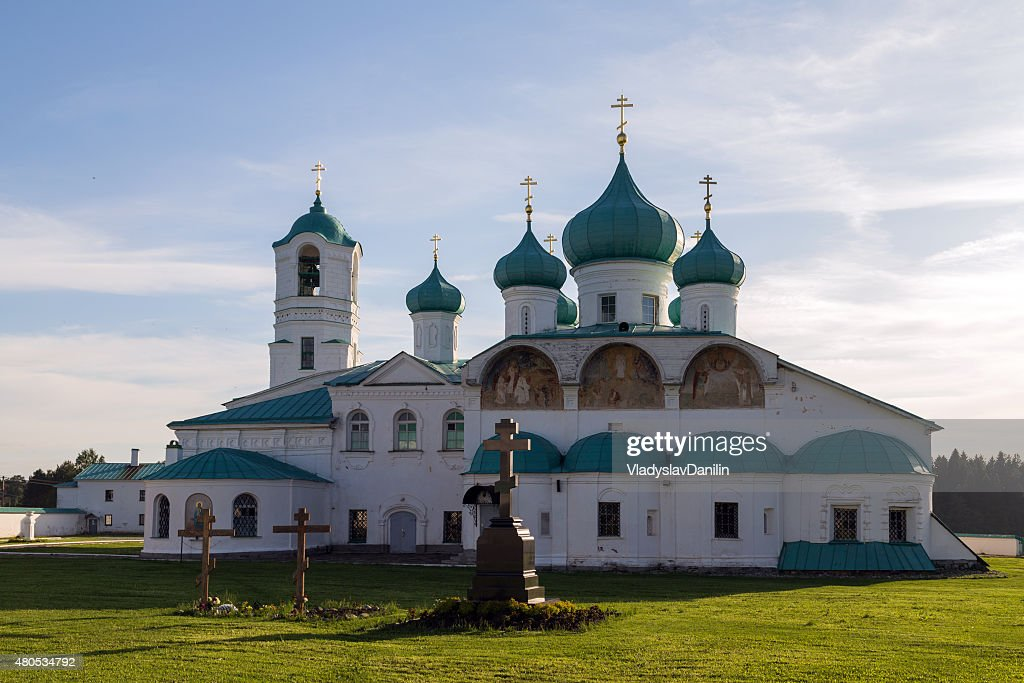 Churches of the Transfiguration St. Alexander of Svir Monastery : Stock Photo