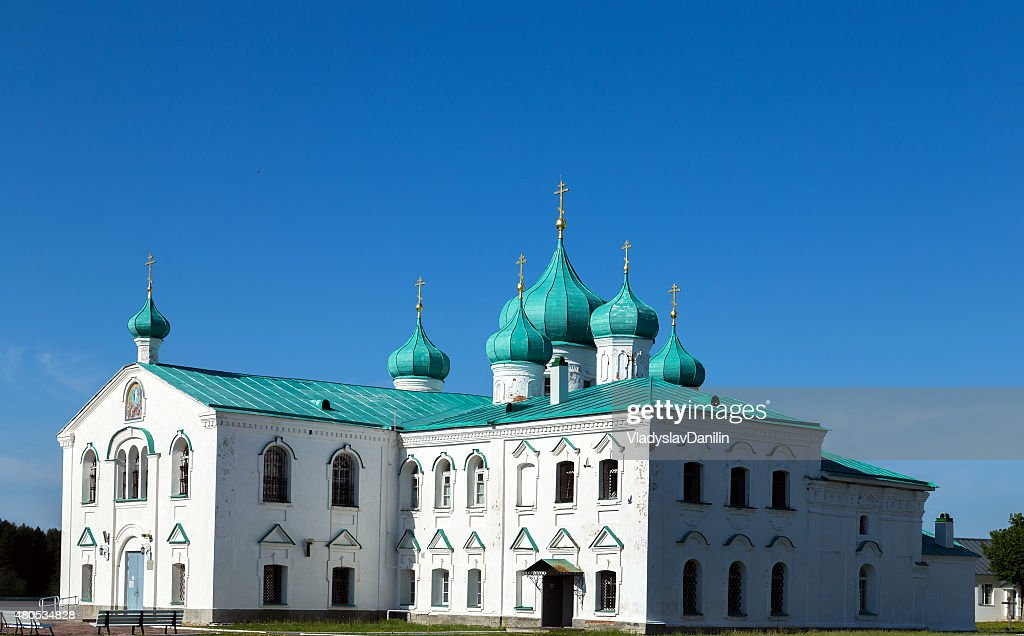 Churches of the Transfiguration St. Alexander of Svir Monastery : Stock Photo