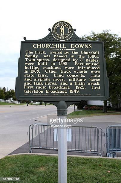 Churchill Downs historical marker on October 05, 2014 in Louisville, Kentucky.