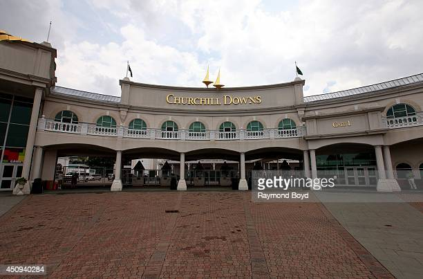 Churchill Downs home of The Kentucky Derby on May 30 2014 in Louisville Kentucky