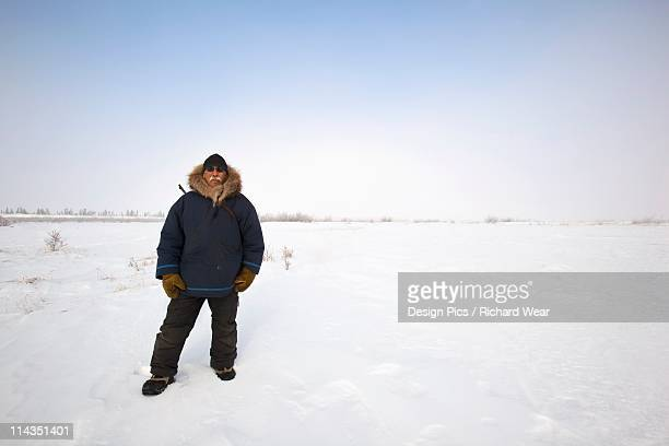 churchill, manitoba, canada - parka coat stock photos and pictures