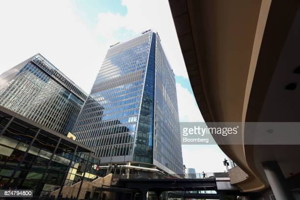 30 Churchill Place centre which houses the European Medicines Agency stands in the Canary Wharf financial business and shopping district in London UK...