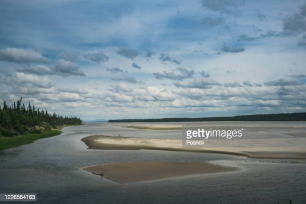 churchill river at happy valley-goose bay - newfoundland and labrador stock pictures, royalty-free photos & images