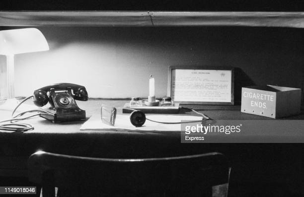 Churchill War Rooms at Whitehall, in a branch of the Imperial War Museum, London, UK, 28th March 1984.