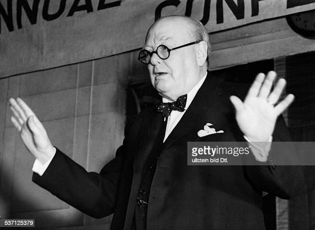 Churchill Winston Politiker GB Churchill Winston *30111874 Politiker GB Premierminister 19401945 Rede zur 3 Jahreskonferenz der der...