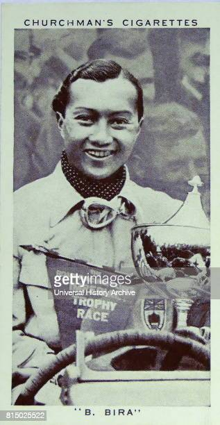 Churchman Kings of Speed Series cigarette card depicting Prince Birabongse Bhanudej Bhanubandh better known as Prince Bira of Siam or by his nom de...