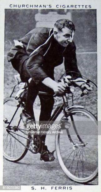 Churchman Kings of Speed Series cigarette card depicting Sid Ferris an English longdistance cyclist who broke the records for EdinburghtoLondon...