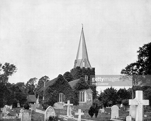 'Churchyard of StokePogis England' 1893 Thomas Gray's 'Elegy Written in a Country Churchyard' is believed to have been written in the churchyard of...